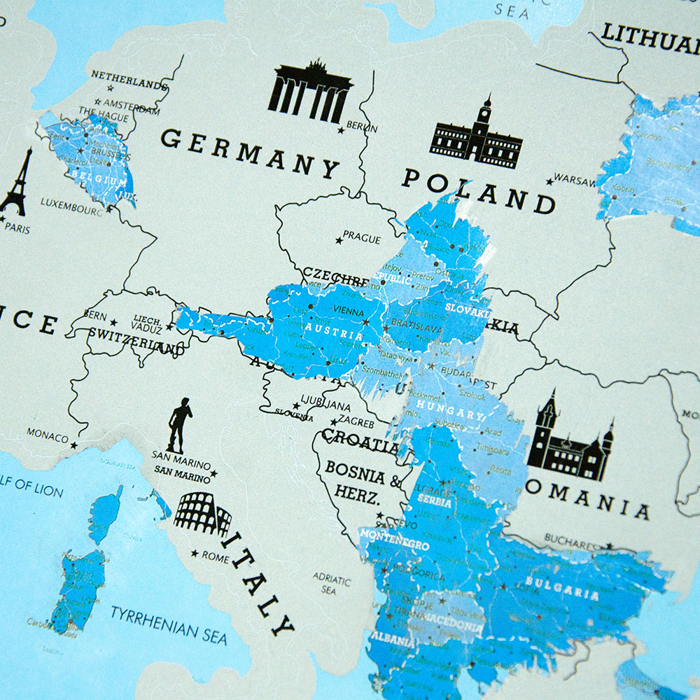 Greb Mapa Evrope Ekonomik Gift Shop Pokloni Com Srbija