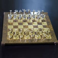 Šah Komplet - Grčka Mitologija Braon
