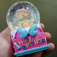 Glitter Kugla Happy Birthday
