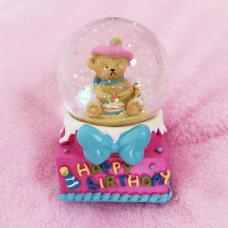 Glitter Kugla Happy Birthday - Roza