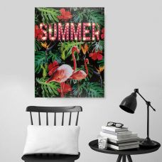 Flamingo Led Poster - Summer