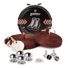 QuickShoelace pertle - Braon Šljokice