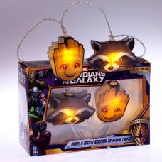 Groot and Rocket Guardians 2D Led Lanac