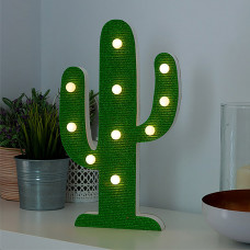 Drvena Kaktus Led Lampa