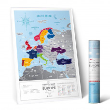 Greb Mapa Evrope Siva