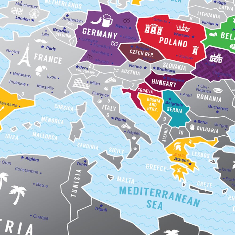 Greb Mapa Evrope Siva Gift Shop Pokloni Com Srbija