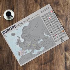 Greb Mapa Evrope V2- na engleskom