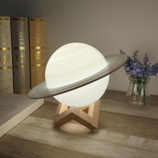 3D Saturn Lampa 14cm