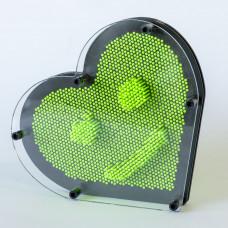 Veliko Pin Art Srce - Zeleno
