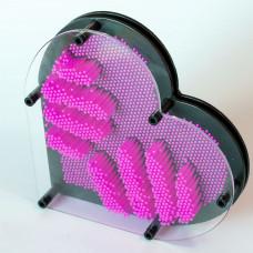 Veliko Pin Art Srce - Pink