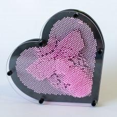 Veliko Pin Art Srce - Svetlije Pink