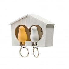 Ptičice Privesci Za Ključeve Žuto-Bela