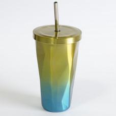 Metalna Čaša Sa Slamkom Za Poneti - Žuta