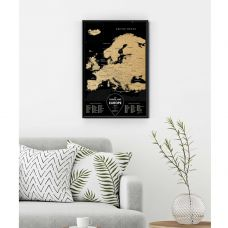 Greb Mapa Evrope Crna
