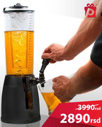 točilica za pivo sa posudom za led