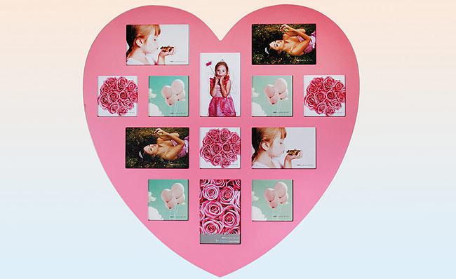 pink ram za slike srce