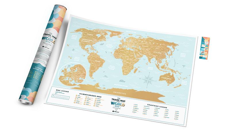 greb karta za putovanja koja se grebe
