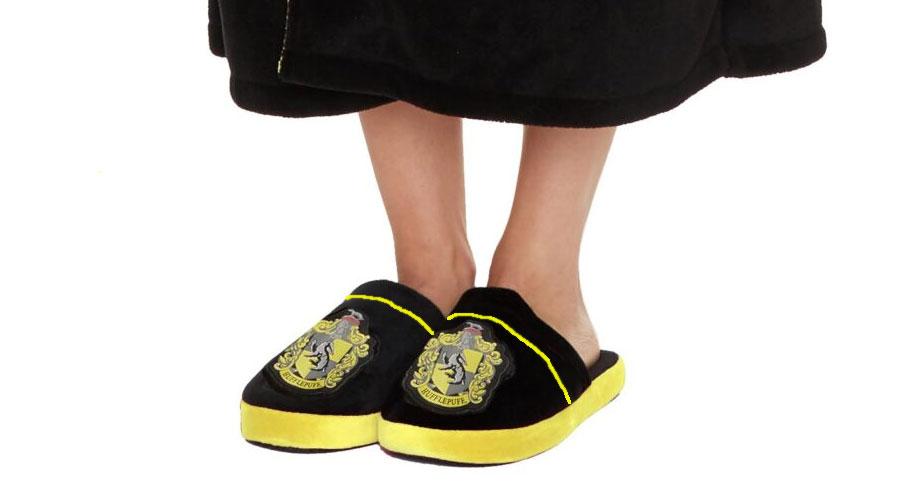 Hufflepuff originalne Harry Potter papuče
