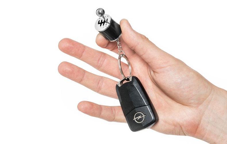 Privezak za ključeve menjač