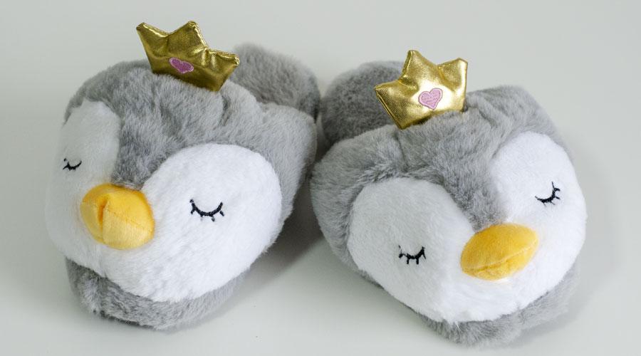 Romantične papuče za zimu u obliku pingvina
